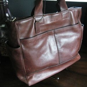 Coach Large Leather Business Tote Bag